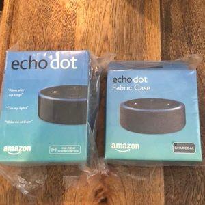 Amazon Echo Dot + Fabric Case